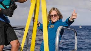 Former astronaut Kathy Sullivan becomes first woman to visit ...